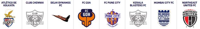 Os oito times da Super Liga da Índia (Foto: Site oficial)