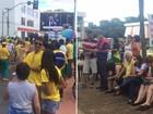 Manifestantes fazem atos contra e a favor do impeachment em Goiás
