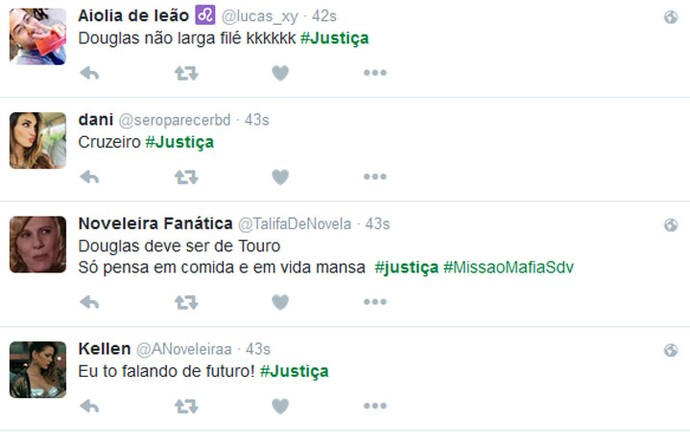 Público comenta final de Kellen e Douglas (Foto: TV Globo)