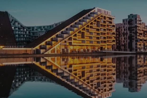 8 House, complexo de casas e escritórios localizado na Dinamarca e criado pelo Bjarke Ingels (Foto: Reprodução)