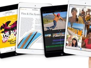 Novo iPad mini tem tela de Retina, com maior resolução (Foto: Divulgação/Apple)