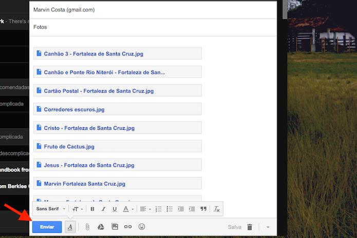 Anexando links do Google Drive no Gmai (Foto: Reprodução/Marvin Costa)