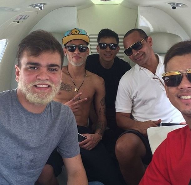 Neymar e amigos (Foto: Instagram/Reprodução)