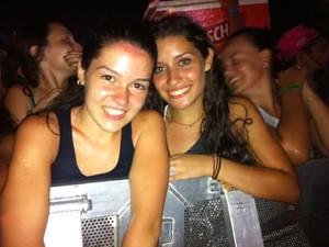 """Luiza e Eduarda são fãs de Ne-Yo: """"Ele é tudo de bom"""", dizem (Foto: Caetanno Freitas/G1)"""