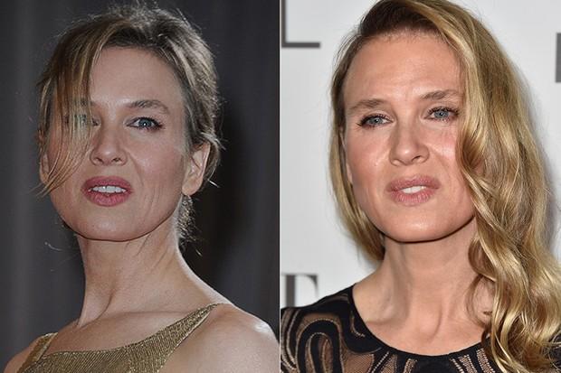 Renee Zellweger - Antes e Depois (Foto: Agência AFP)