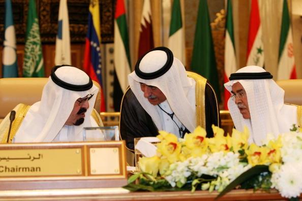Delegação da Arábia Saudita em conferência da OPEP (Foto: Getty Images)