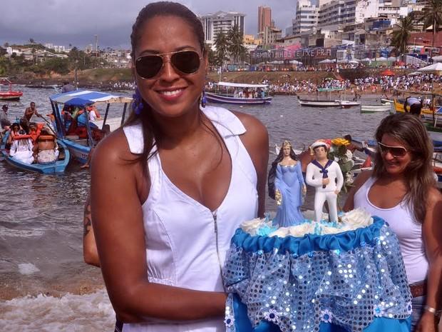 Festa de Iemanjá 2014 em Salvador (Foto: Joilson Cesar/Agência Haack)
