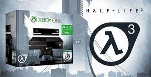 Xbox One em pacote com 'Half-Lie 3' apareceu em brincadeira de loja da Suécia (Foto: Divulgação/Webhallen)