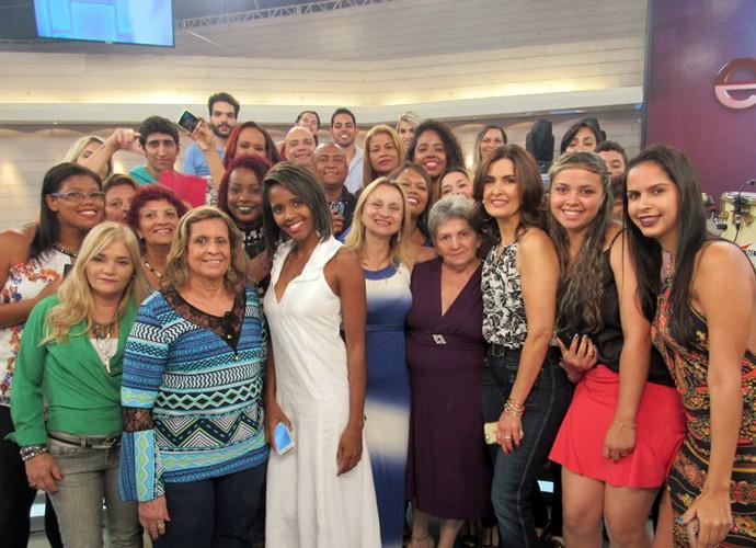 Plateia com a Fátima nos bastidores (Foto: Carolina Morgado/Gshow)