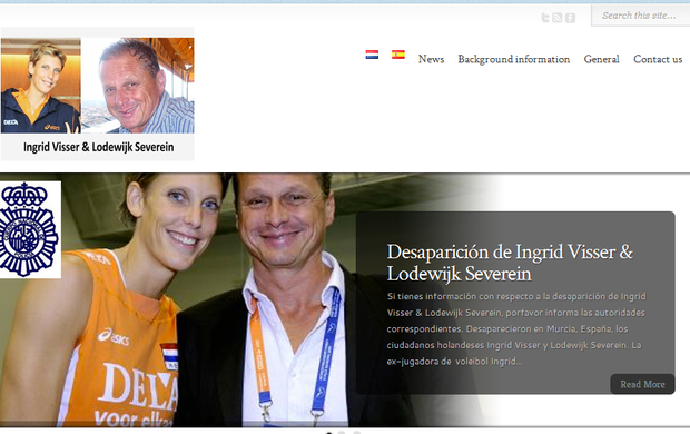 Site criado pela família de Ingrid Visser para encontra-lá (Foto: Reprodução/Internet)