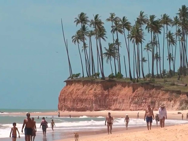 Barra do Cahy, no extremo sul da Bahia (Foto: Imagem/TV Santa Cruz)