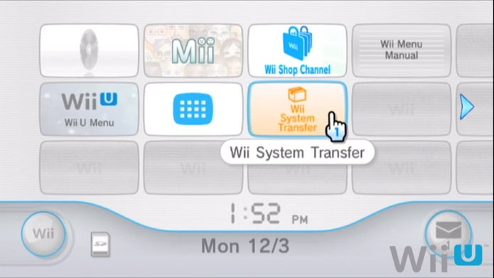 Baixe o Wii System Transfer no Wii U (Foto: Nintendo)