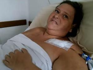 Márcia ainda não tem previsão de alta médica (Foto: Reprodução/TV Tribuna)