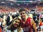 Preta Gil curte jogo de basquete com o noivo em Miami