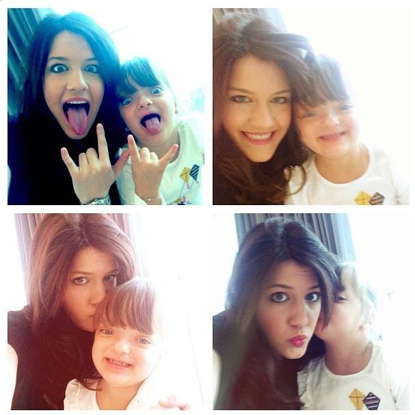 Rafa Justus imita a irmã Luiza. Supefofas! (Foto: Reprodução/Instagram)