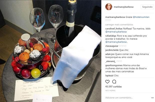 Marina Ruy Brabosa está em Milão (Foto: Reprodução)
