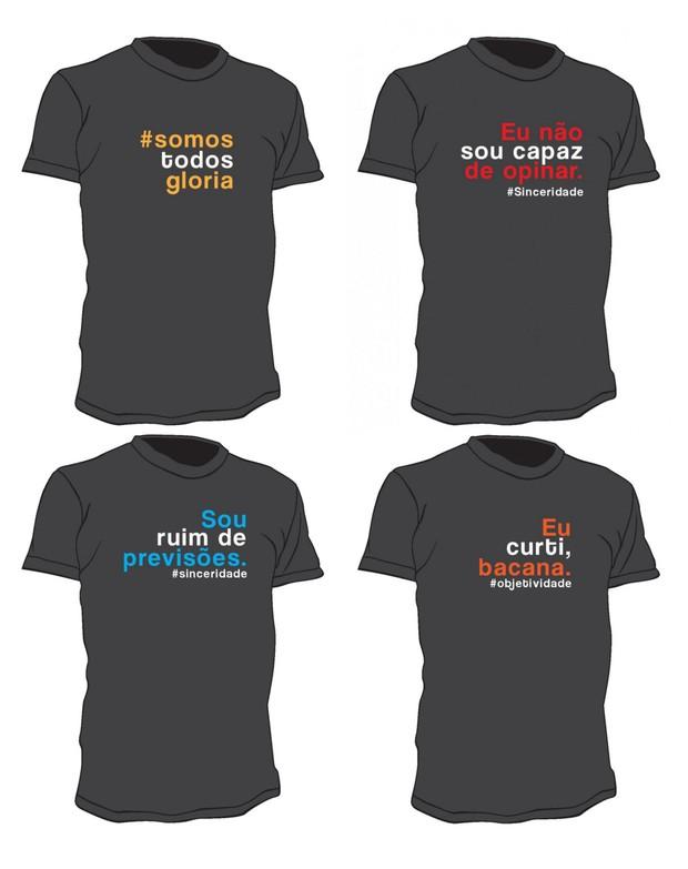 Camisas com frases de Glória Pires (Foto: Reprodução)