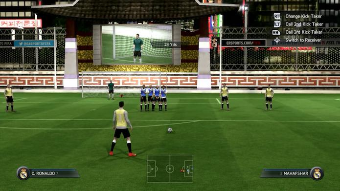 Fifa 15: dicas para dominar as cobranças de falta do game (Foto: Reprodução/Murilo Molina)