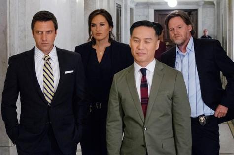 Raúl Esparza, Mariska Hargitay, BD Wong (o infalível psiquiatra) e Donal Logue  (Foto: Divulgação)