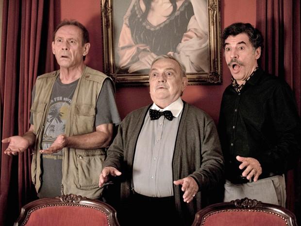 Os atores José Wilker, Antônio Pedro e Paulo Betti em 'Casa da Mãe Joana 2' (Foto: Divulgação)