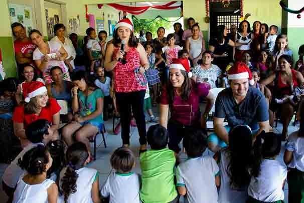 Natal com os repórteres (Foto: Laura Lorenzoni)