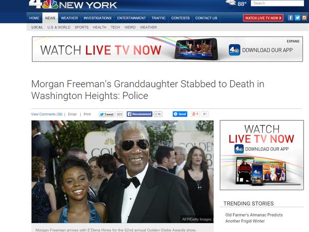 Vítima foi encontrada na madrugada deste domingo (16) (Foto: Reprodução/NBC)