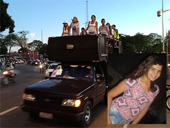 Família de Fernanda Ellen faz protesto (Foto: Walter Paparazzo/G1)