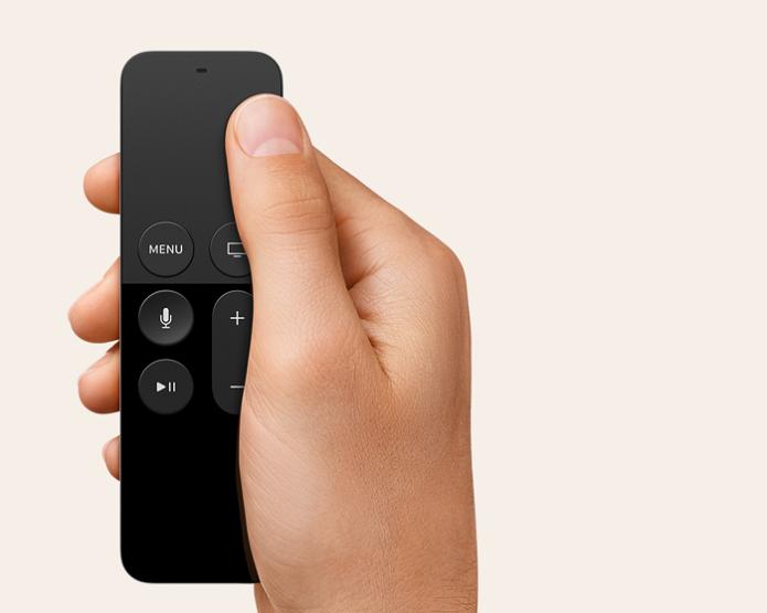Siri Remote conta com área sensível ao toque (Foto: Divulgação/Apple)