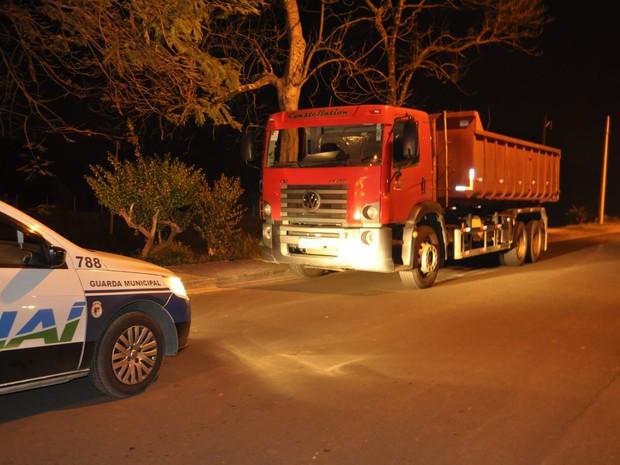 Guarda Civil Municipal de Jundiaí encontra caminhão roubado (Foto: Divulgação/Guarda Civil Municipal)