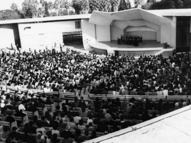 Casa lotada em um show em 1965, já no Parque Farroupilha (Foto: Léo Guerreiro e Pedro Flores)