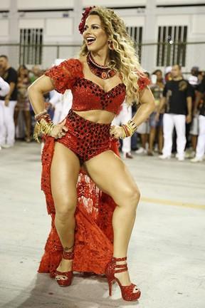 Viviane Araújo em ensaio técnico do Salgueiro na Marquês de Sapucaí, no Centro do Rio (Foto: Marcos Serra Lima/ EGO)