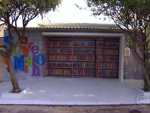 Fachada da nova sede do casal (Foto: TV Globo)