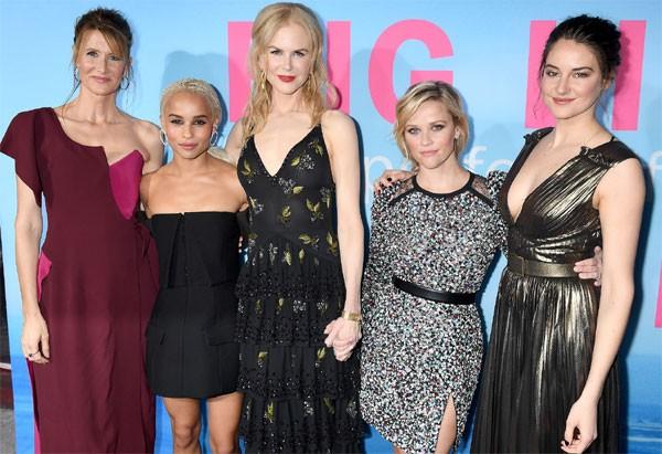 Laura Dern, Zoë Kravitz, Nicole Kidman, Reese Wintherspoon e Shailene Woodley (Foto: Getty Images)