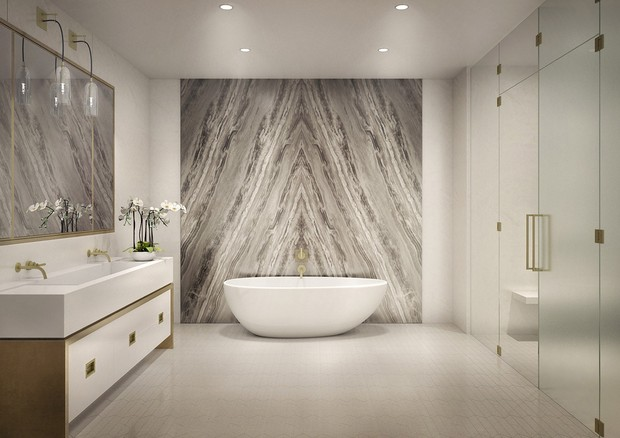 Banheiro da suíte máster (Foto: Reprodução)