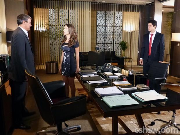 Thomaz surpreende e diz que os dois não têm nada a esconder (Foto: Além do Horizonte/TV Globo)