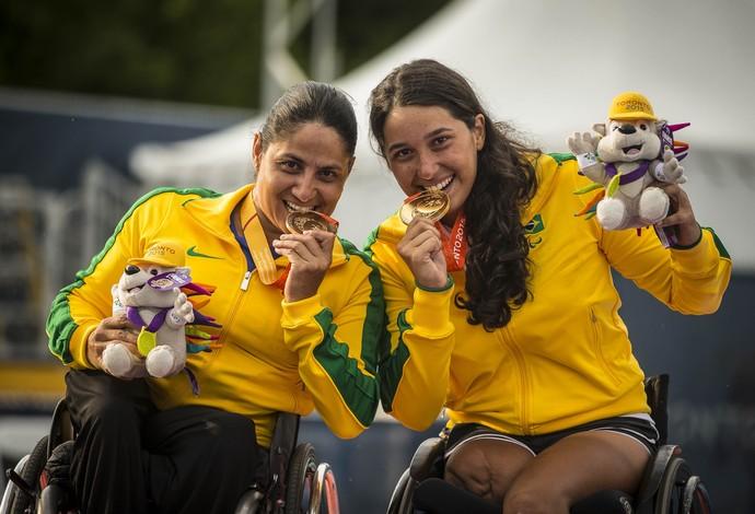 tênis paralímpico Rejane e Natalia Mayara Toronto (Foto: Marcio Rodrigues/MPIX/CPB)
