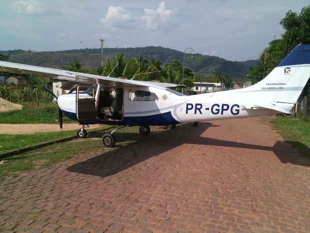 Aeronave saiu da pista de pouso (Foto: Arquivo Pessoal)