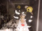 Incêndio destrói eletrodomésticos (Corpo de Bombeiros/Divulgação)