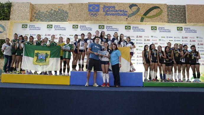 Time do Henrique Castriciano conquista segundo lugar nos Jogos Escolares da Juventude (Foto: William Lucas/Inovafoto/COB)