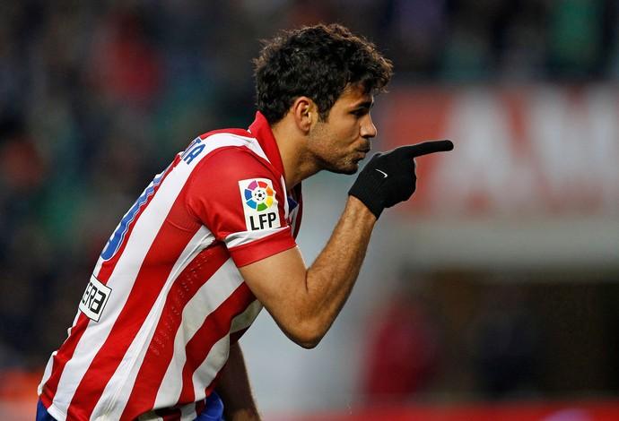 diego costa comemora, Atlético de Madrid x Elche (Foto: AP)