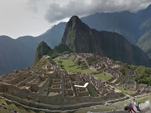 Cidade inca de Machu Picchu, no Peru, entra no Google Street View (Foto: Reprodução/ Google Street View)