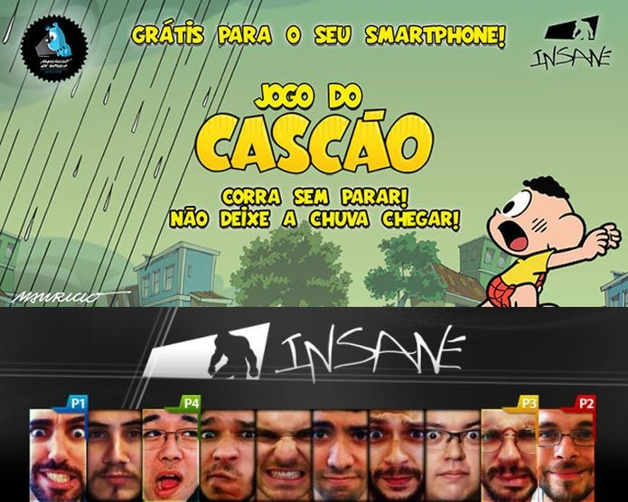 Jogo do Cascão está disponível gratuitamente para iOS e Android. E foi desenvolvido pela Insane (Foto: Divulgação)