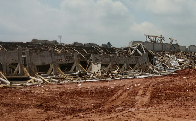 Arquibancada do estádio do Água Santa, Diadema (Foto: Yan Resende)
