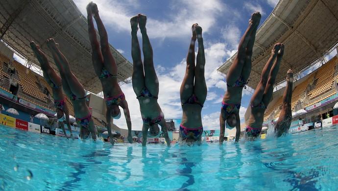 França, evento-teste, nado sincronizado (Foto: Satiro Sodré/ SSPress/CBDA)