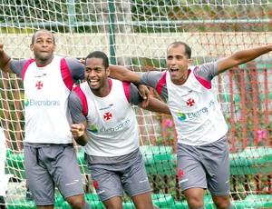 Fellipe Bastos, Dedé e Felipe, Treino do Vasco (Foto: Cezar Loureiro / Agência O Globo)