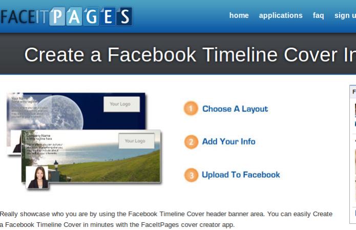 Face it Pages Timeline Cover permite criar uma capa em apenas três passos (Foto: Reprodução/Edivaldo Brito)
