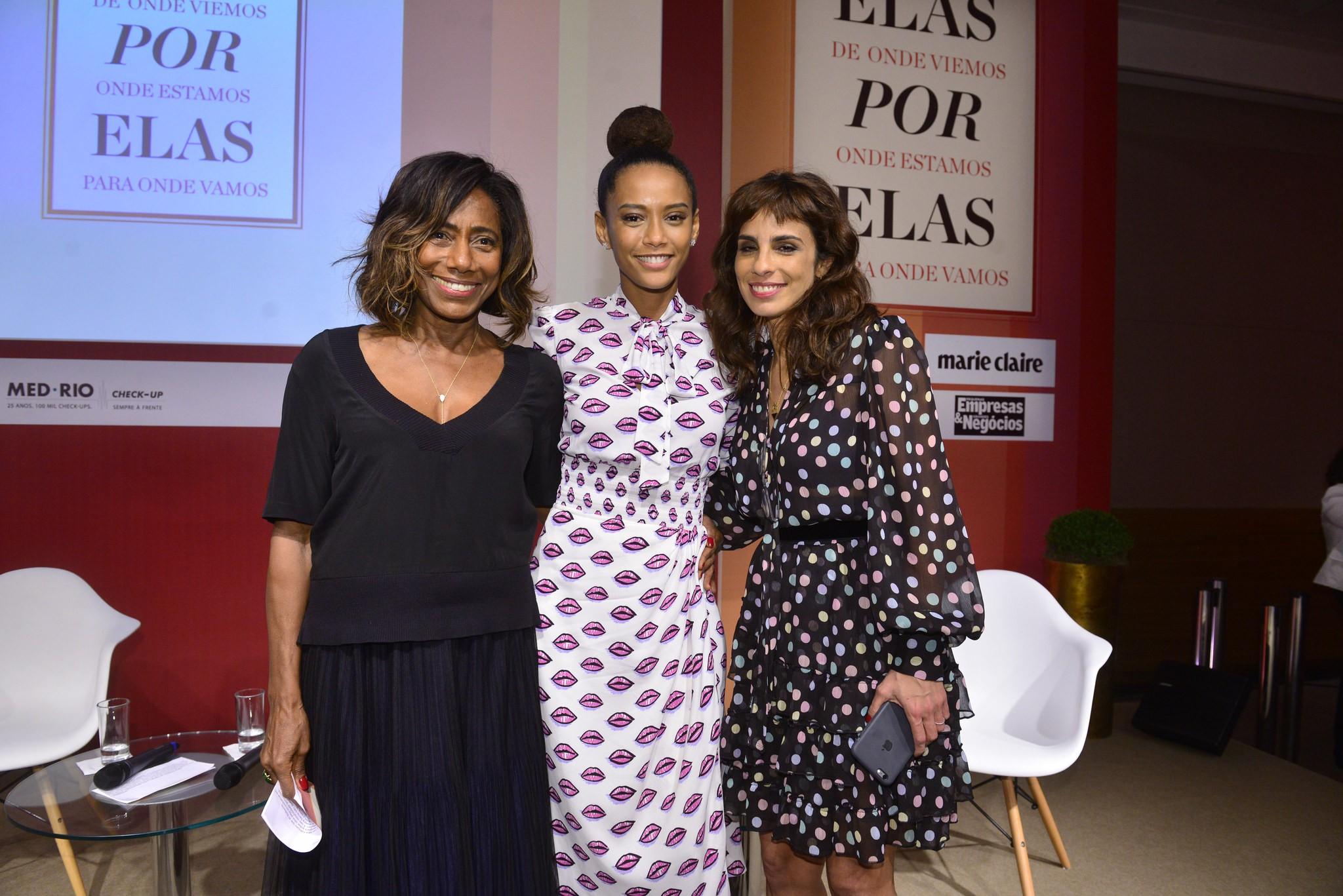 Glória Maria, Taís Araújo e Maria Ribeiro participaram do evento (Foto: Fabio Cordeiro/Divulgação)