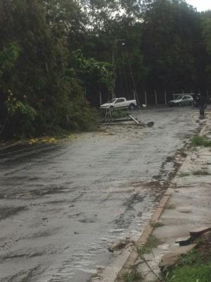 Chuva em Uberlândia (Foto: Arquivo Pessoal/Bruna Santana)