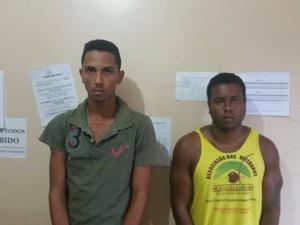 José Carlos e Matheus Alves foram presos nesta segunda-feira (12) (Foto: Divulgação/SSP)