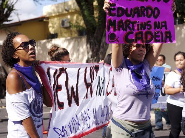 Mulheres realizam protesto (Foto: Maíra Guedes/ Marcha Mundial das Mulheres)